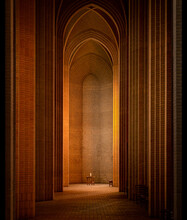 Copenhagen, Denmark: Minimal Interior Of Grundtvigs Church