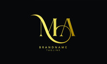 Alphabet Letters Initials Monogram Logo MA, AM, M And A