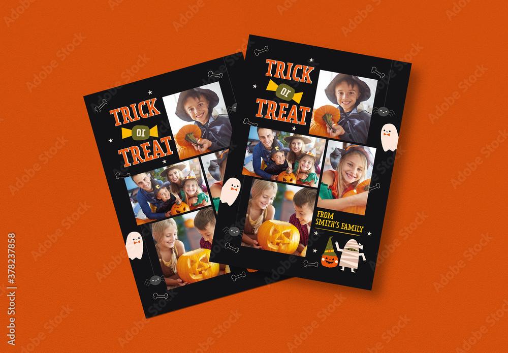 Fototapeta Halloween Photobooth Layout