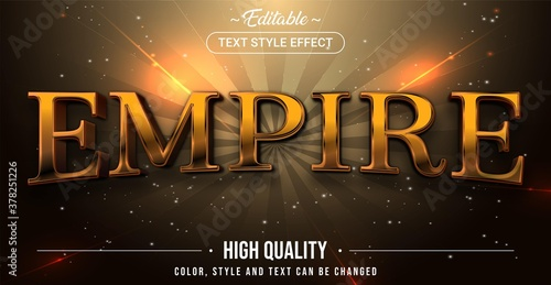 Slika na platnu Editable text style effect - Empire theme style.