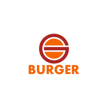Letter G Burger Shape Simple Geometric Logo Vector