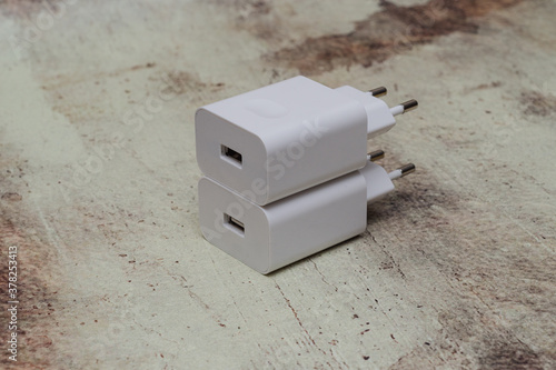 Fotografie, Obraz network charger usb device for recharging a smartphone