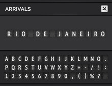 Analog Airport Flip Scoreboard...