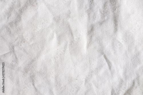 Fototapeta white calico fabric cloth background texture