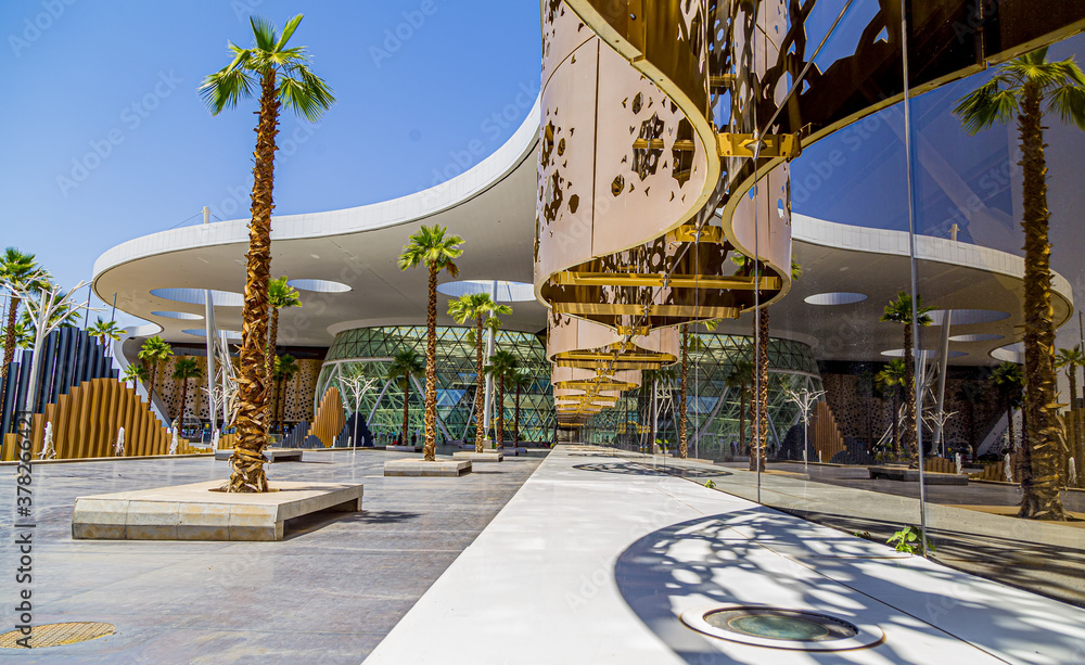 Fototapeta The new Menara International Airport building,Morocco