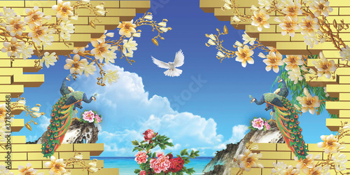 Murale ścienne  custom-3d-wall-mural-wallpaper-image