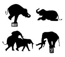 Elephant Circus Animal Silhoue...