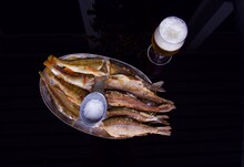 Glass Of Beer, Panned Fish