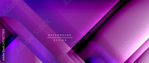 Fototapeta Vector geometric abstract background with lines and modern forms. Fluid gradient with abstract round shapes and shadow and light effects obraz