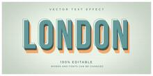 London Vintage Retro Style Effect