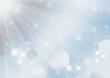 光芒とキラキラの輝きと水玉模様 背景素材(銀色)横