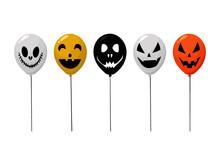 Colorful Balloons Happy Halloween Halloween Party Holiday Concept