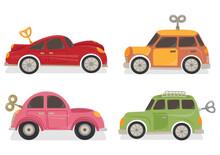 Set Of Wind Up Car Toys