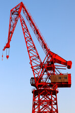 Red Crane By The Estuary Of Bilbao