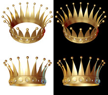 Gold Crown In Different Angles...