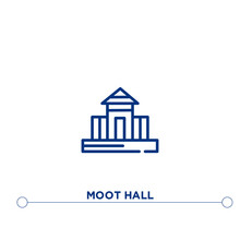 Moot Hall Outline Vector Icon....