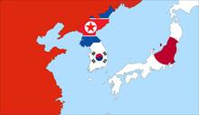 Center The Map Of South Korea....