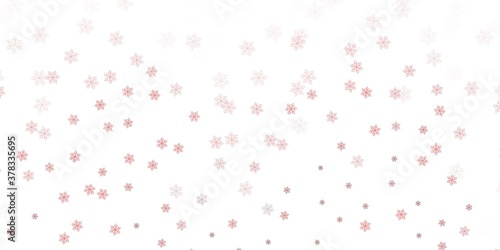 Foto Light orange vector doodle background with flowers.