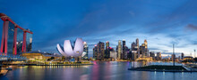 Wide Panorama Of Cityscape Of ...