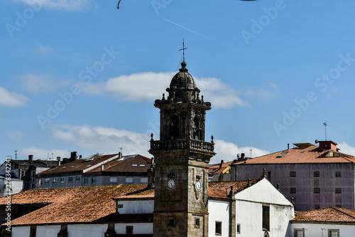 Fototapeta Landscape detail view of betanzos medieval city in lugo , a coruna, galicia north spain obraz