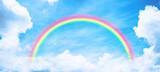 Fototapeta Tęcza - Rainbow in blue sky.