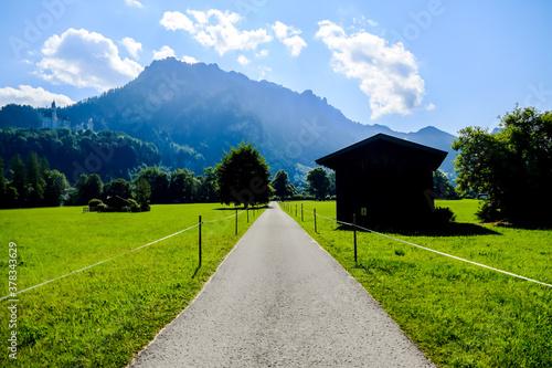 Fototapeta road in the mountains, in Sweden Scandinavia North Europe obraz