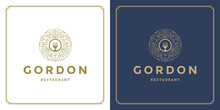 Restaurant Logo Design Vector Illustration Forks Silhouette Good For Restaurant Menu And Cafe Badge