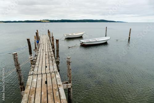 Fototapeta boat on the lake, in Sweden Scandinavia North Europe obraz