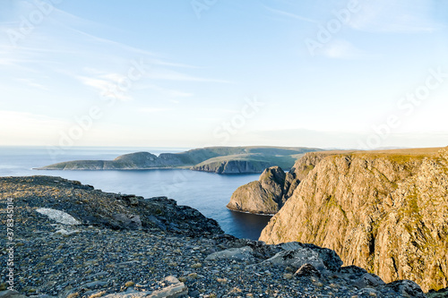 Fototapeta Landscape view in Nordkapp North Cape Norway Europe , taken in nordkapp, europe obraz