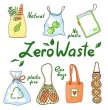 Set Of Zero Waste Eco Bags, St...