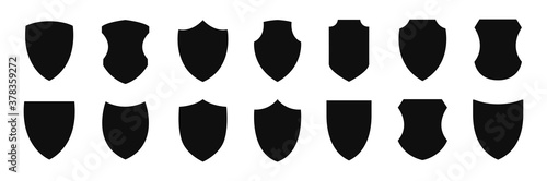 Fotomural Shield icon vector set illustration