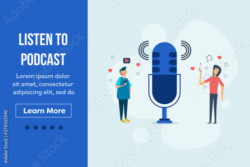 Fotografiet Listen to podcasting