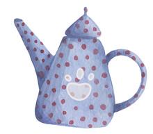 Watercolor Hand Drawn Cute Tea...