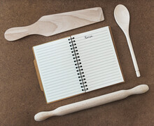 Recipe Book And Utensils