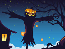 Halloween Dark Night Backgroun...