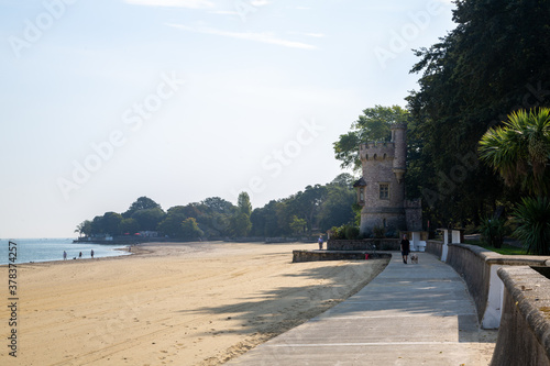 Ryde beach and Appley tower, a tourist attraction on the Isle of Wight Wallpaper Mural