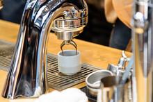 Closeup To Coffee Making Machi...