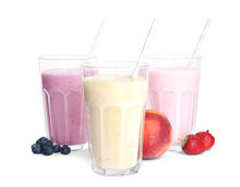 Different Tasty Milk Shakes An...