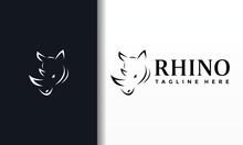 Simple Line Rhino Logo