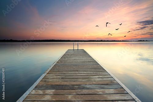 Fotografie, Tablou romantische Zeit am See