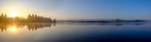 Panorama Of Kirchsee Lake At F...
