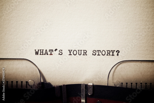 Fototapeta What`s your story question obraz
