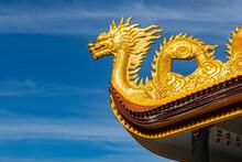 Vietnam, Phu Quoc Island, Ho Quoc Pagoda, Detail OfÔøΩgolden Dragon On Pagoda Roof