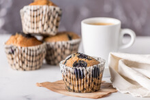 Sweet Cakes Or Cupcakes On Lig...