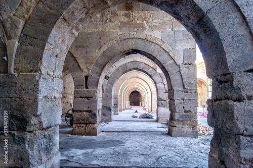 Photo entrance to the church of the holy sepulchre