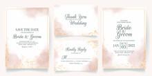 Watercolor Creamy Wedding Invi...