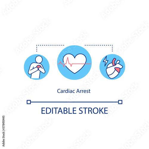 Cardiac arrest concept icon Poster Mural XXL