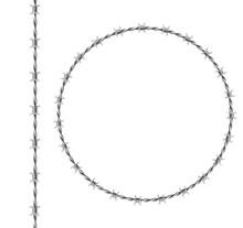 Steel Barbwire Set, Circle Fra...