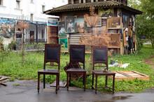 Izmailovsky Antique Market. Old Things For Sale