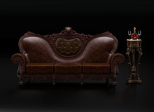 Luxurious Classic Leather Sofa...